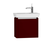 54542 - T4 Compact Washbasin Unit 50cm (Right), Matte Burgundy