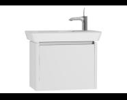54543 - T4 Compact Washbasin Unit 60cm (Left), White High Gloss