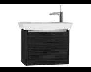 54545 - T4 Compact Washbasin Unit 60cm (Left), Hacienda Black