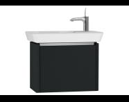 54547 - T4 Compact Washbasin Unit 60cm (Left), Matte Grey