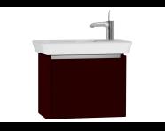 54548 - T4 Compact Washbasin Unit 60cm (Left), Matte Burgundy