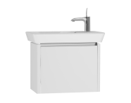 54549 - T4 Compact Washbasin Unit 60cm (Right), White High Gloss