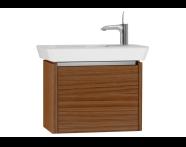 54550 - T4 Compact Washbasin Unit 60cm (Right), Hacienda Brown