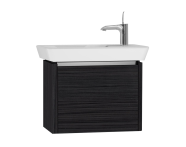 54551 - T4 Compact Washbasin Unit 60cm (Right), Hacienda Black