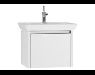 54555 - T4 Washbasin Unit 60cm, White High Gloss