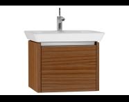 54556 - T4 Washbasin Unit 60cm, Hacienda Brown