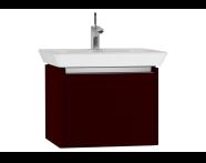 54560 - T4 Washbasin Unit 60cm, Matte Burgundy