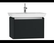 54565 - T4 Washbasin Unit 70cm, Matte Grey