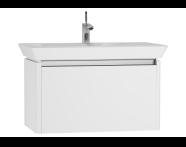 54567 - T4 Washbasin Unit 80cm, White High Gloss