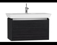 54569 - T4 Washbasin Unit 80cm, Hacienda Black