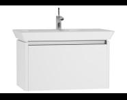 54570 - T4 Washbasin Unit 80cm, Matte White