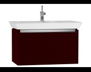 54572 - T4 Washbasin Unit 80cm, Matte Burgundy