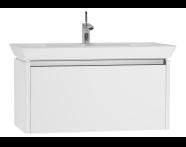 54573 - T4 Washbasin Unit 90cm, White High Gloss
