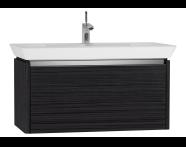 54575 - T4 Washbasin Unit 90cm, Hacienda Black