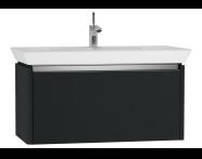 54577 - T4 Washbasin Unit 90cm, Matte Grey