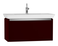 54578 - T4 Washbasin Unit 90cm, Matte Burgundy