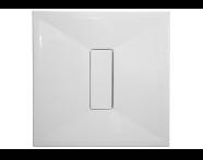 54580011000 - Slim 90x90 cm Kare Sıfır Zemin, Akrilik Gider Kapağı, Sifon