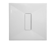 54580027000 - Slim 90x90 cm Kare Sıfır Zemin, Krom Gider Kapağı