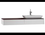 54588 - T4 Short Counter Unit 130 cm, Matte White