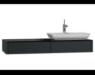 54589 - T4 Short Counter Unit 130 cm, Matte Grey