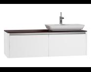 54591 - T4 High Counter Unit  130 cm, White High Gloss