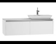 54594 - T4 High Counter Unit  130 cm, Matte White
