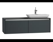 54595 - T4 High Counter Unit  130 cm, Matte Grey