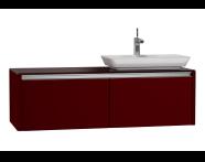 54596 - T4 High Counter Unit  130 cm, Matte Burgundy