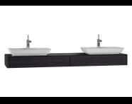 54599 - T4 Short Counter Unit 180 cm, Hacienda Black
