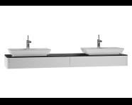 54600 - T4 Short Counter Unit 180 cm, Matte White