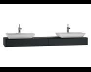 54601 - T4 Short Counter Unit 180 cm, Matte Grey