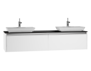 54603 - T4 High Counter Unit  180 cm, White High Gloss