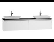 54606 - T4 High Counter Unit  180 cm, Matte White