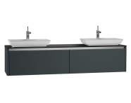 54607 - T4 High Counter Unit  180 cm, Matte Grey