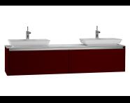 54608 - T4 High Counter Unit  180 cm, Matte Burgundy