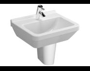 5460L003-0999 - S50 Square Cloakroom Washbasin, 50 cm