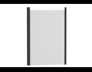 54630 - T4 Illuminated Mirror, 50 cm, Matte Grey