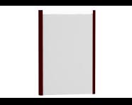 54631 - T4 Illuminated Mirror, 50 cm, Matte Burgundy