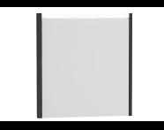 54642 - T4 Illuminated Mirror, 70 cm, Matte Grey
