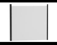54647 - T4 Illuminated Mirror, 80 cm, Matte White
