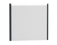 54648 - T4 Illuminated Mirror, 80 cm, Matte Grey