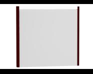 54649 - T4 Illuminated Mirror, 80 cm, Matte Burgundy