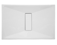 54650011000 - Slim 180x90 cm Dikdörtgen Sıfır Zemin, Akrilik Gider Kapağı, Sifon