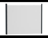 54654 - T4 Illuminated Mirror, 90 cm, Matte Grey