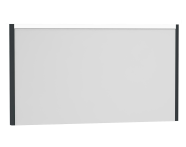 54660 - T4 Illuminated Mirror, 130 cm, Matte Grey