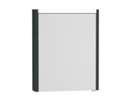 54672 - T4 Illuminated Mirror Cabinet, 60 cm Left Matte Grey