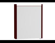 54673 - T4 Illuminated Mirror Cabinet, 60 cm Left Matte Burgundy