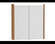 54675 - T4 Illuminated Mirror Cabinet, 70 cm, Hacienda Brown
