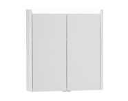 54677 - T4 Illuminated Mirror Cabinet, 70 cm, Matte White