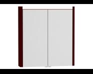 54679 - T4 Illuminated Mirror Cabinet, 70 cm, Matte Burgundy